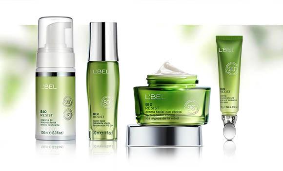linea de tratamiento facial natural vegana bio resist, crema facial, nutritiva, hidratante, locion en espuma, suero serum de ojos, ingredientes naturales